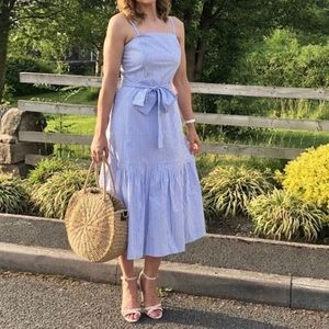NWOT Banana Republic Blue Stripe Midi Casual Dress
